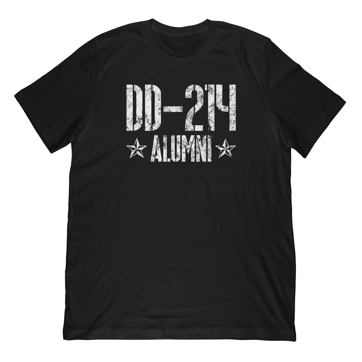 DD-214 Alumni In White & Distressed T-Shirt