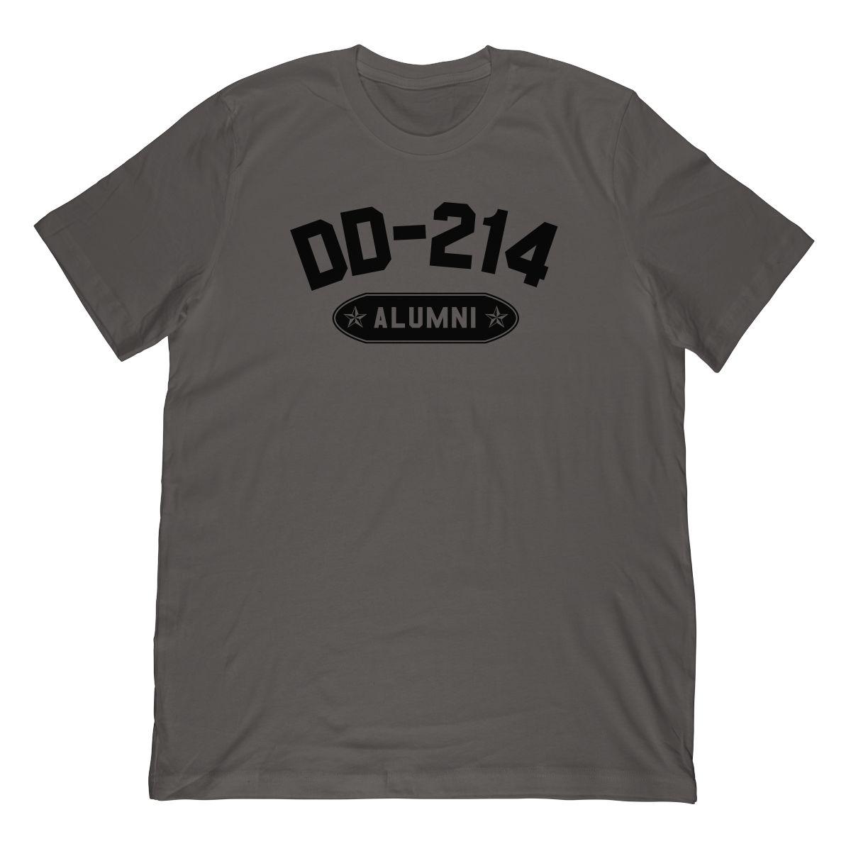 DD-214 Alumni In Black (Stamp Look) T-Shirt