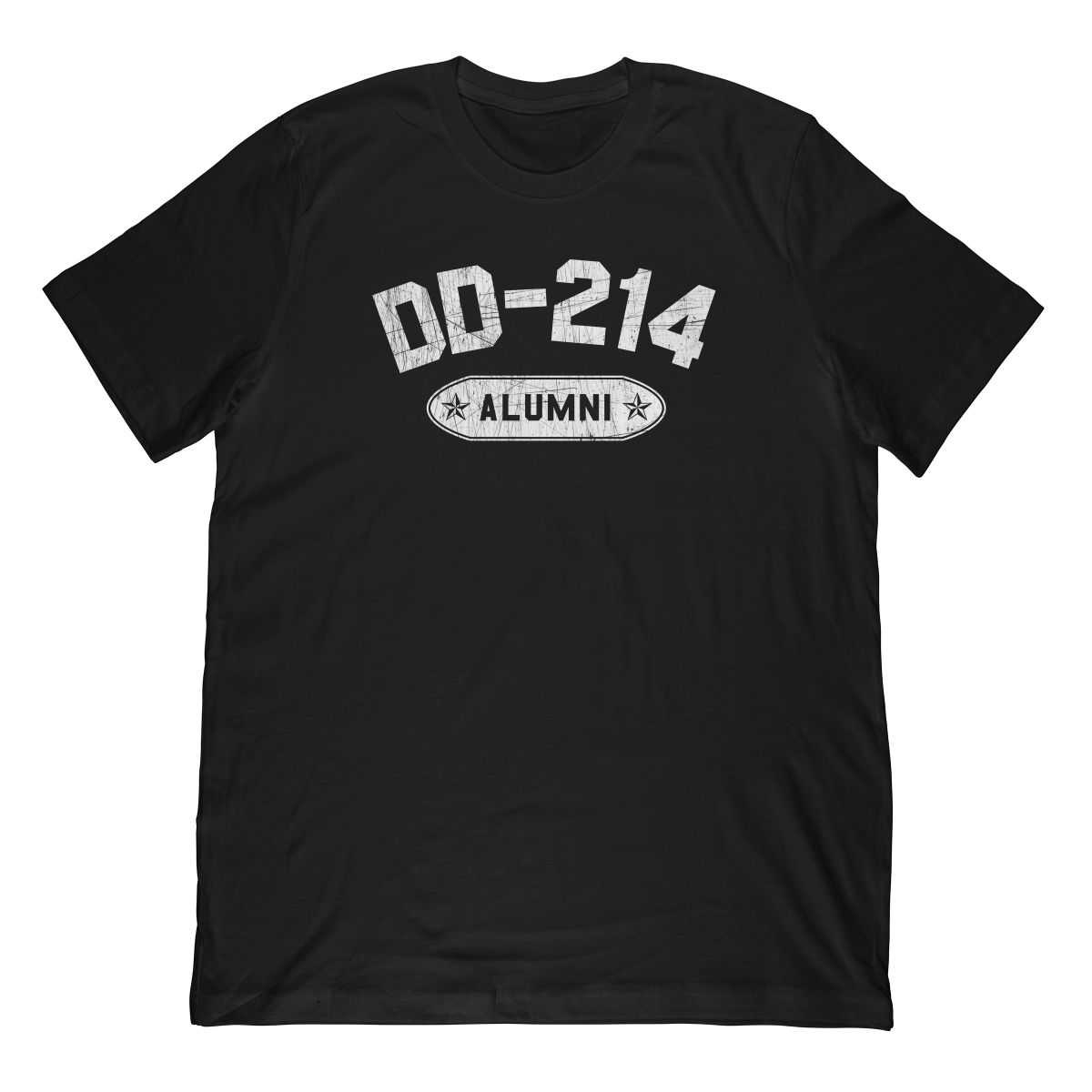 DD-214 Alumni In White (Stamp Look) T-Shirt