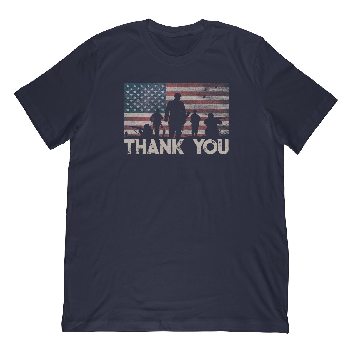 Thank You – Veteran's Day American Flag T-Shirt