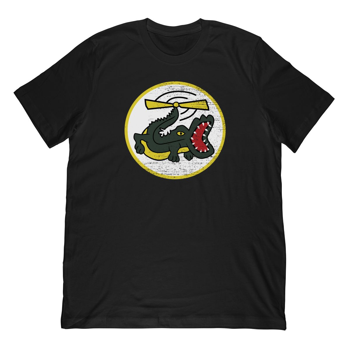 Funny Crocodile Helicopter Military Pilot Patch