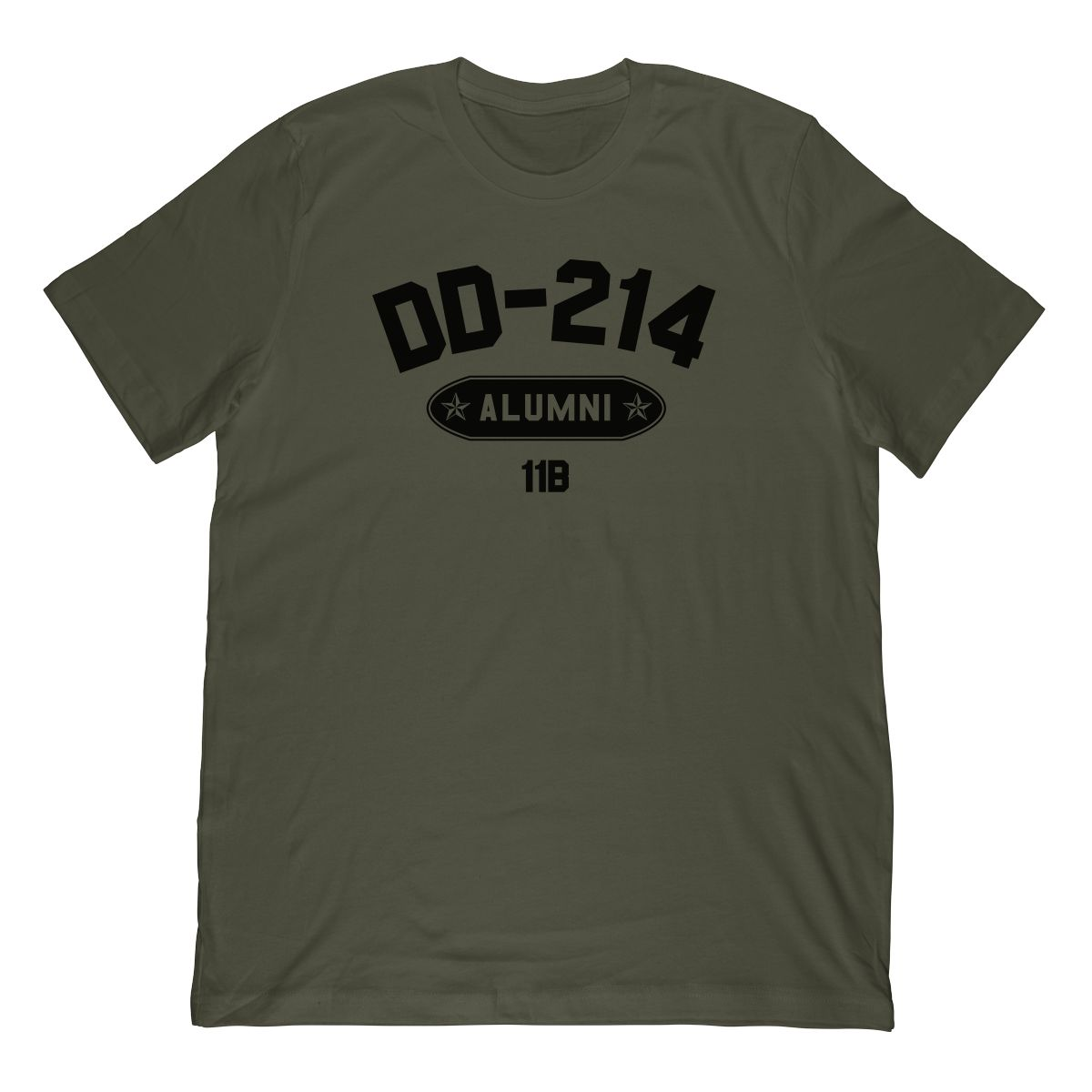 DD-214 Alumni 11B In Black (Stamp Look) T-Shirt