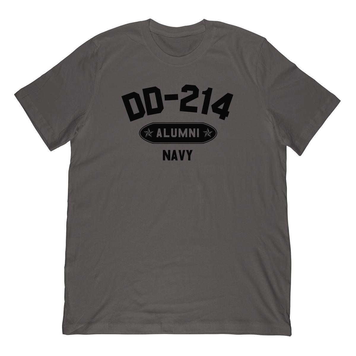 DD-214 Alumni Navy In Black (Stamp Look) T-Shirt