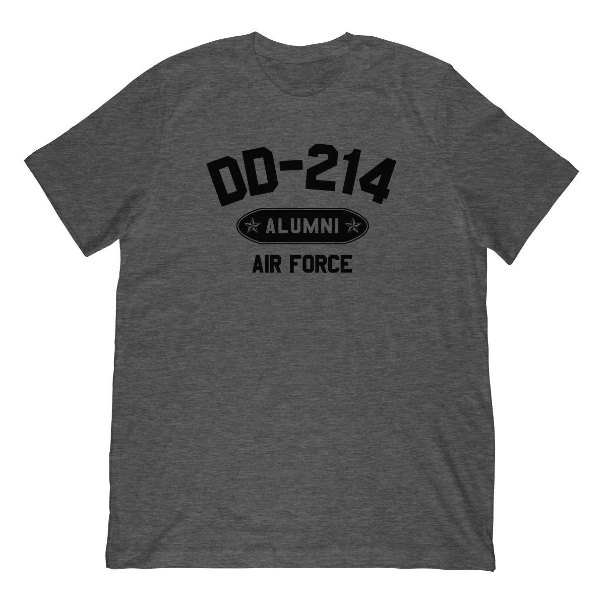 DD-214 Alumni Air Force In Black (Stamp Look) T-Shirt