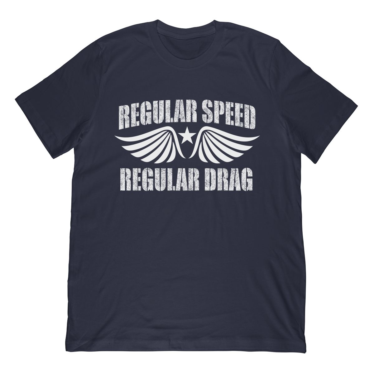 Funny Regular Speed Regular Drag In White